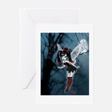 Dark Goth Fairy Greeting Cards (Pk of 10)
