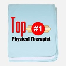 Top Physical Therapist baby blanket