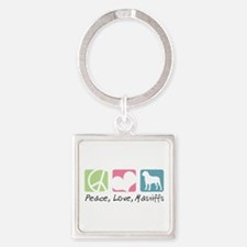 peacedogs.png Square Keychain