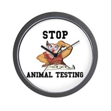 Stop Animal Testing Wall Clock