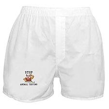 Stop Animal Testing Boxer Shorts