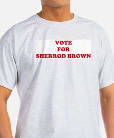 VOTE FOR SHERROD BROWN  Ash Grey T-Shirt