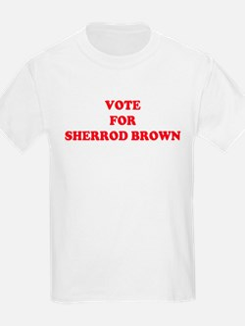 VOTE FOR SHERROD BROWN  Kids T-Shirt