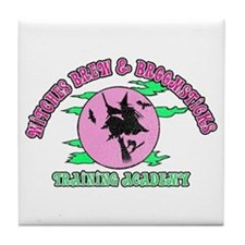 Witches Brew & Broom Tile Coaster