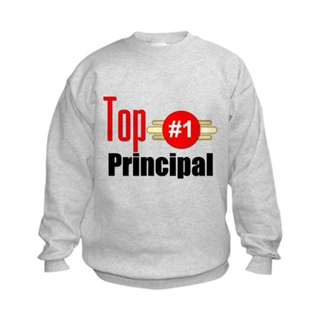 Top Principal Kids Sweatshirt