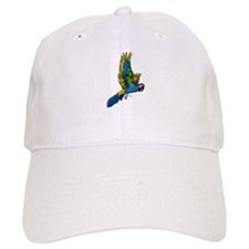 Flying Macaw Parrot Baseball Cap