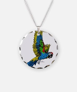 Flying Macaw Parrot Necklace