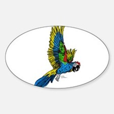 Flying Macaw Parrot Decal