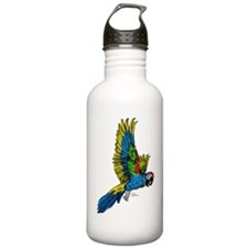 Flying Macaw Parrot Water Bottle