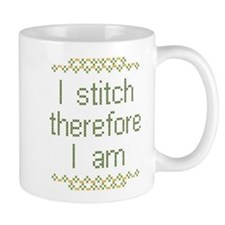 I Stitch Therefore I Am Mug