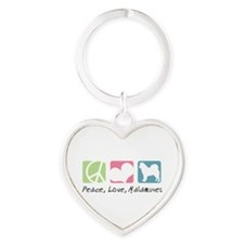 peacedogs.png Heart Keychain