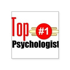 "Top Psychologist Square Sticker 3"" x 3"""
