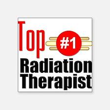 "Top Radiation Therapist Square Sticker 3"" x 3"""