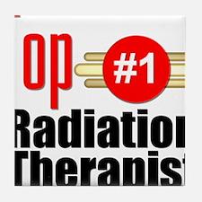 Top Radiation Therapist Tile Coaster