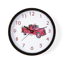 Firetruck Wall Clock