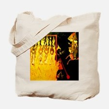 Mohammed visiting Hell tortur Tote Bag