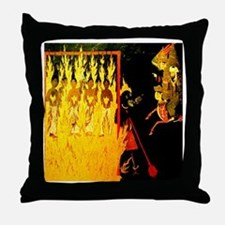 Mohammed visiting Hell tortur Throw Pillow