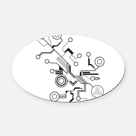 Circuit Oval Car Magnet