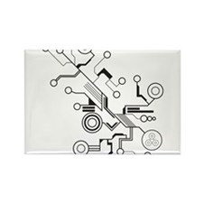 Circuit Rectangle Magnet
