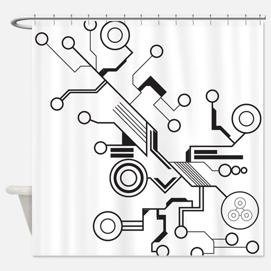 Circuit Shower Curtain