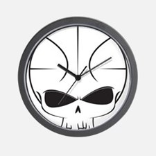 Basketball Skull Wall Clock