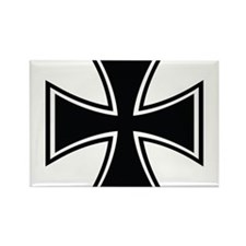 Biker Cross Rectangle Magnet