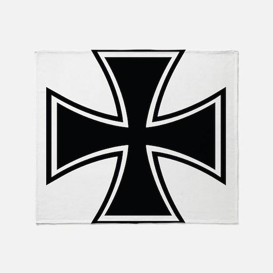 Biker Cross Throw Blanket
