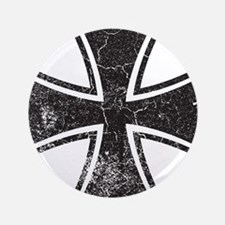"""Biker Cross - Distressed 3.5"""" Button"""