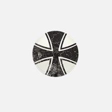Biker Cross - Distressed Mini Button