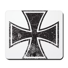 Biker Cross - Distressed Mousepad