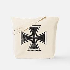 Biker Cross - Distressed Tote Bag