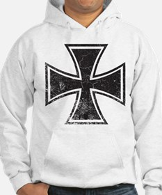 Biker Cross - Distressed Hoodie