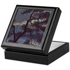 Tree At Dusk Keepsake Box