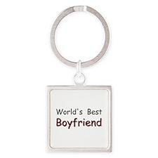 Worlds Best Boyfriend Square Keychain