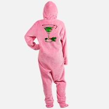 CANDYCANEMARTINI.png Footed Pajamas