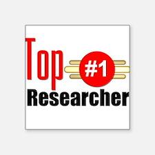 "Top Researcher Square Sticker 3"" x 3"""