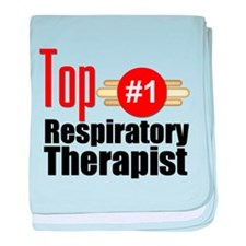 Top Respiratory Therapist baby blanket