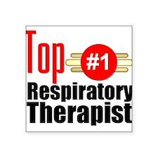 """Top Respiratory Therapist Square Sticker 3"""" x 3"""""""