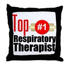 Top Respiratory Therapist Throw Pillow