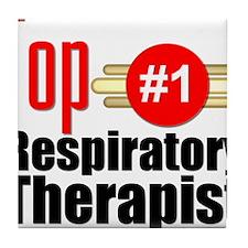 Top Respiratory Therapist Tile Coaster
