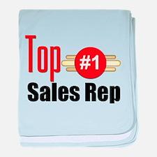 Top Sales Rep baby blanket