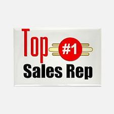 Top Sales Rep Rectangle Magnet