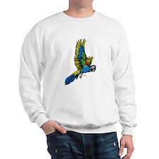Flying Macaw Parrot Sweatshirt