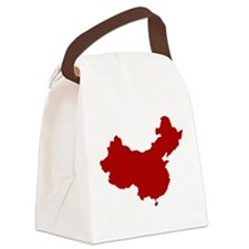 Red Canvas Lunch Bag