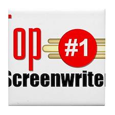 Top Screenwriter Tile Coaster