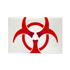 Biohazard - RED Rectangle Magnet