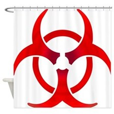 Biohazard - RED Shower Curtain