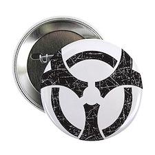 """Biohazard - Texture 2.25"""" Button"""