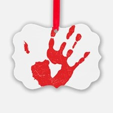 Bloody Hand Print Ornament