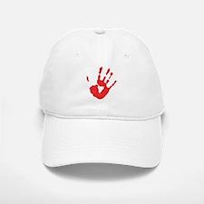 Bloody Hand Print Baseball Baseball Cap